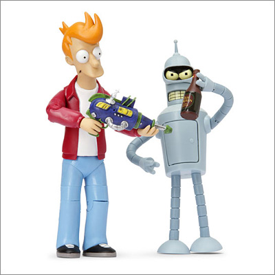 Futurama Action Figures: Fry and Bender