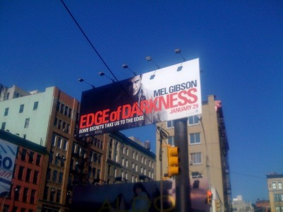 The Edge of Darkness giant billboard
