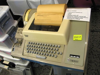 ASR-33 teletype: Note the Tymshare logo!