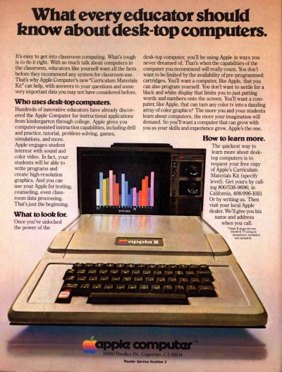 An ad for the Apple II