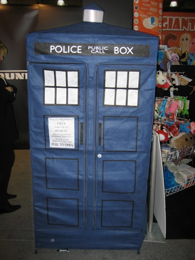 A full scale Tardis toy by underground-toys.com