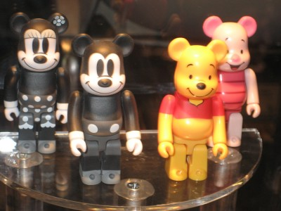 Mickey and Mini Mouse, Whiney the Poo and Piglet Qee Bears Diamond at Toy Fair 2010