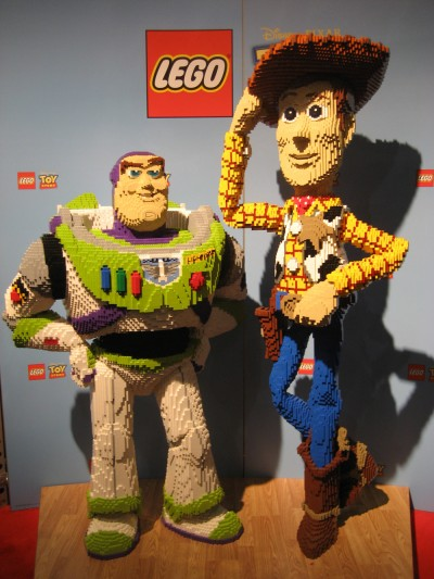 Giant Toy Story Lego display at Toy Fair 2010