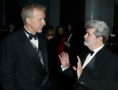 James Cameron and Geroge Lucas