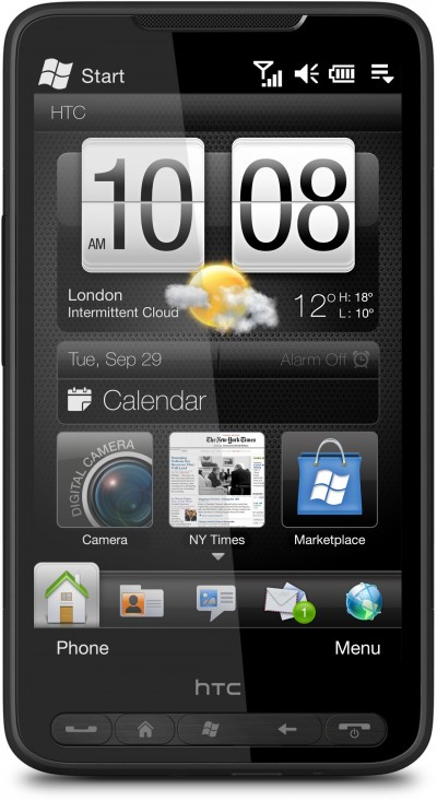 HTC HD2, Available in the United States in early 2010