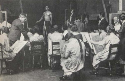 A life drawing class from 1930