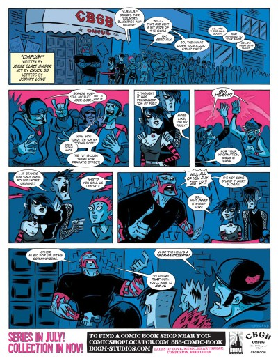 CBGB the Comic Book: sample page