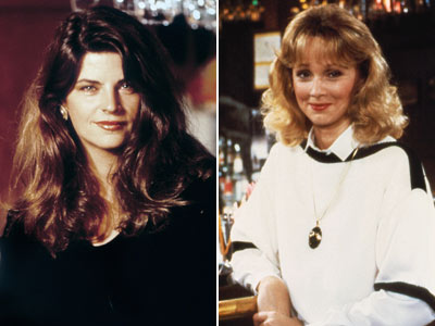 Kirstie Alley and Shelley Long from Cheers