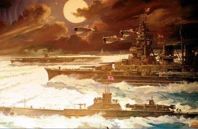 Japanese Fleet - Tora, Tora, Tora by Robert McCall