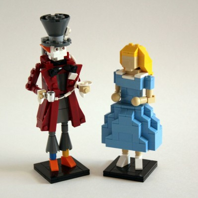 Alice in Wonderland Lego sculpture by Tommy Williamson