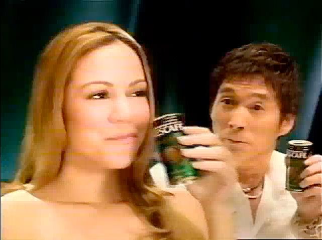 Mariah Carey in a Japanese commercial for Nescafe canned coffee