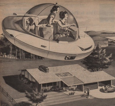 Your Personal Flying Carpet: From an advertisement for America's Independent Electric Light and Power Companies from a April 1959 issue of Newsweek