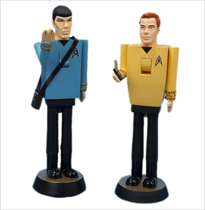 Kirk and Spock Nutcrackers