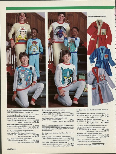 Tacky Cartoon Pajamas from 1987