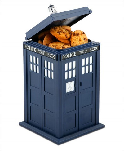 The Talking TARDIS Cookie Jar