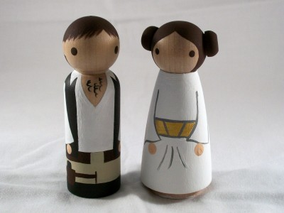 Han and Leia Kokeshi Dolls