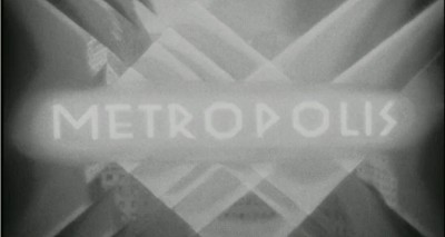 The opening title from Metropolis