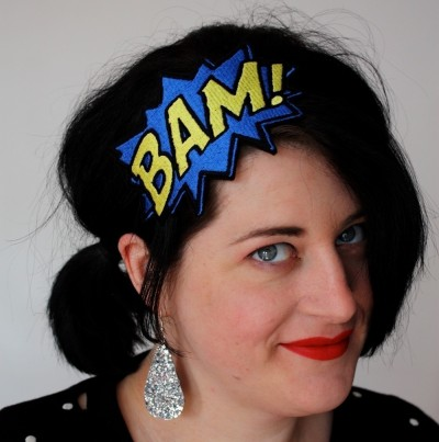 Comic Book Headbands by Janine Basil