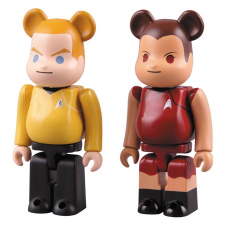 Kirk and Uhura Be@rbricks