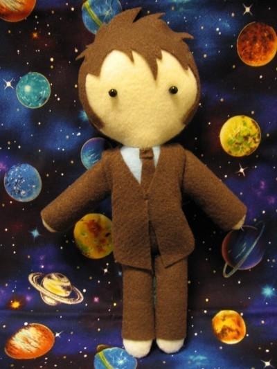 David Tennant crafted doll