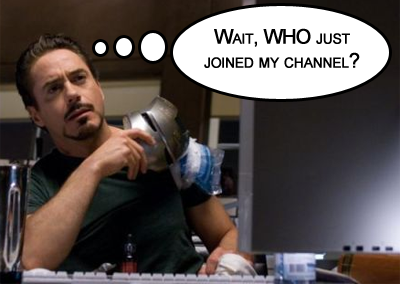 Tony Stark is unhappy with the direction his IRC channel is taking.