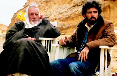 Sir Alec Guinness and George Lucas