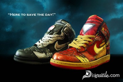 Diversitile Iron Man Custom Shoes
