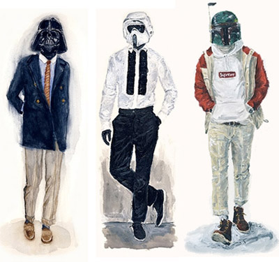 John Woo's Star Wars Designer Fashion Illustrations