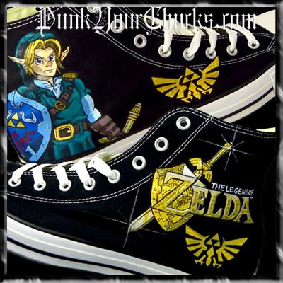 SALE** Legend of Zelda custom shoes PATTERN 1 by ZeldaCrap
