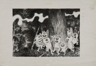 Original Artwork from the Shigeru Mizuki Exhibit held in Ginza, August 2010