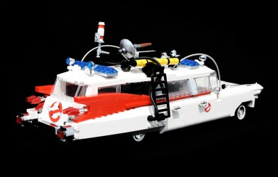 Ghostbusters Ecto-1 made out of LEGO