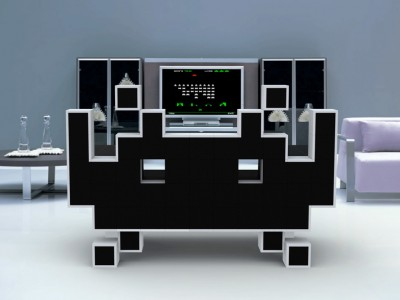 Space Invaders Couch by Igor Chak