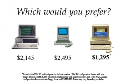 Price points on the Amiga vs PC and Macs: Cheap is cheap!