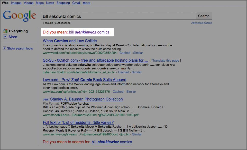 Bing Badly Needs a Misspelling Checker » Fanboy com