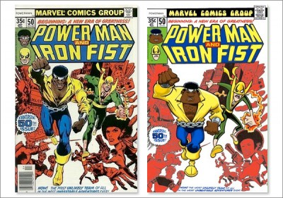 Original cover by Dave Cockrum; Marvel 1978. Maurice Fontenot copy on right.