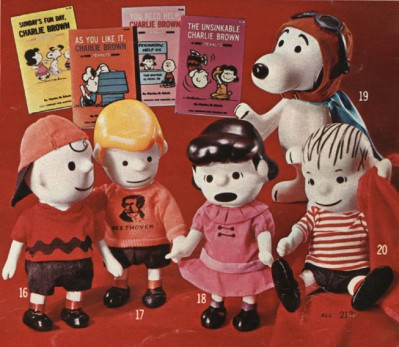 Vintage Peanuts Toys from 1968