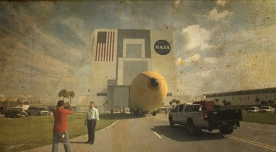 Last Shuttle External Tank Arrives at Kennedy