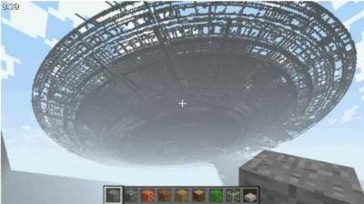 USS Enterprise Minecraft Construction 1