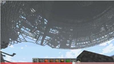 USS Enterprise Minecraft Construction 3