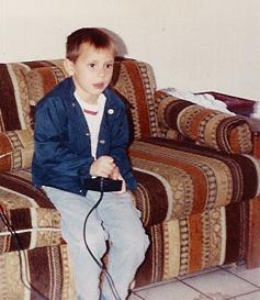 Tim Sheehy playing an Atari 2600
