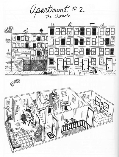 Drinking at the Movies by Julia Wertz - a wonderful illustration of a typical brooklyn hipster apartment