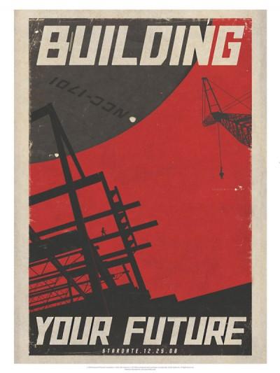 Star Trek Propaganda Posters - Building Future