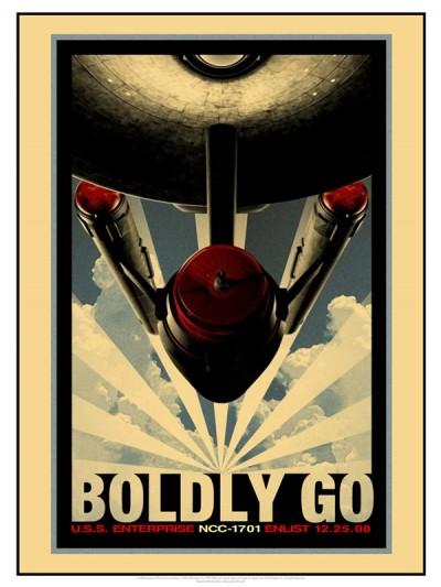 Star Trek Propaganda Posters - Boldly Go