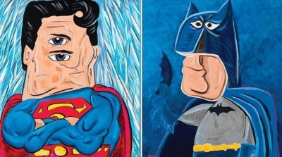 Picasso-style superheroes
