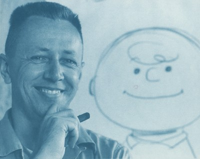 Charles Schulz as a young man in the 50s