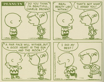 An early Peanuts comic strip