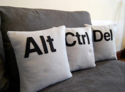 Control Alt Delete pillows
