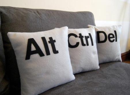Control Alt Delete pillows