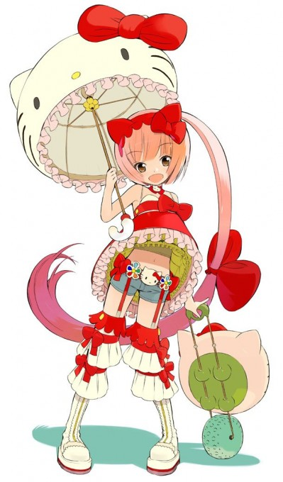 Vocaloid2 Hello Kitty Illustration