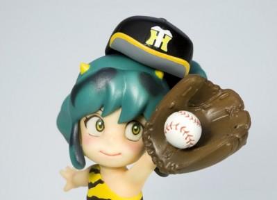 Urusei Yatsura Childhood Lum Figurine wearing a Tigers baseball cap
